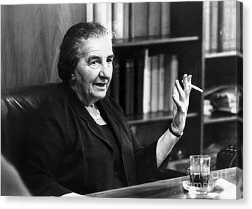 Golda Meir (1898-1978) Canvas Print by Granger