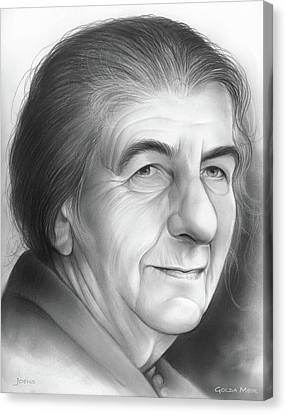 Prime Canvas Print - Golda Meir by Greg Joens