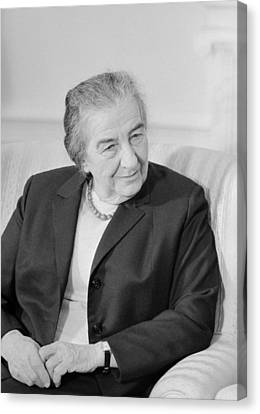 Golda Meir - Israeli Prime Minister Canvas Print by War Is Hell Store