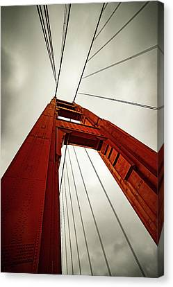 Golden Abstract Canvas Print by Peter Irwindale