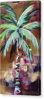 Golden Amethyst Palm Canvas Print