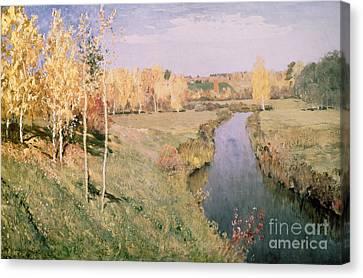 Golden Autumn Canvas Print by Isaak Ilyich Levitan