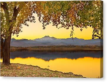 Golden Autumn Twin Peaks View Canvas Print
