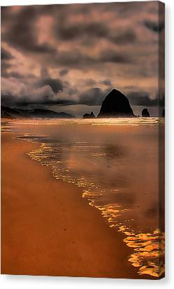 Golden Beach Canvas Print by David Patterson