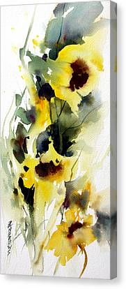 Golden Bow Canvas Print