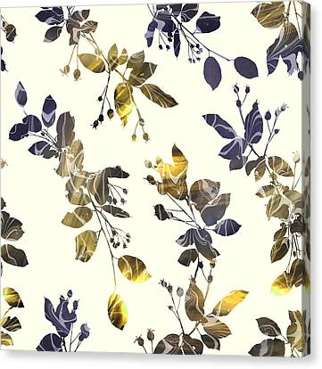 Pattern Canvas Print - Golden Branches by Varpu Kronholm
