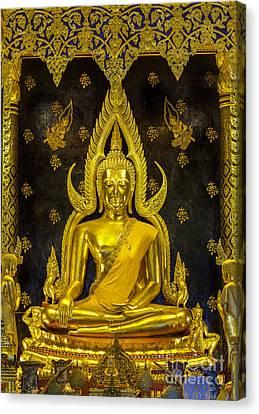 Golden Buddha  Canvas Print by Anek Suwannaphoom