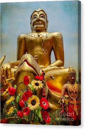 Flowers For Buddha  Canvas Print by Adrian Evans