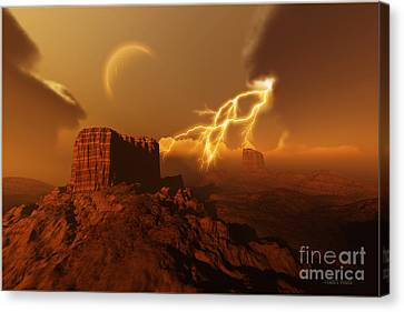 Golden Canyon Canvas Print by Corey Ford