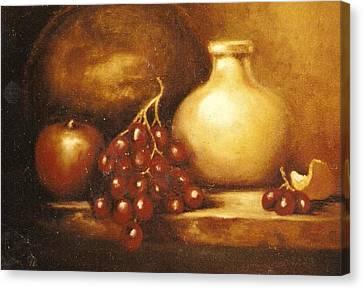 Golden Carafe Canvas Print by Jordana Sands