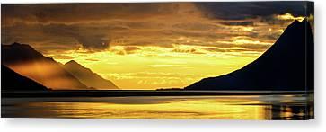 Ocean Inlet Canvas Print - Golden by Chad Dutson
