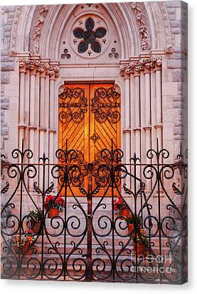 Golden Church Door Canvas Print by Lexa Harpell