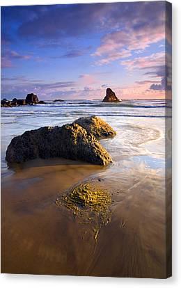 Golden Coast Canvas Print by Mike  Dawson
