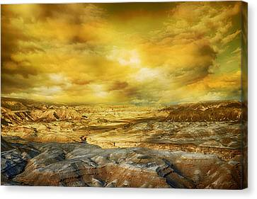 Golden Colors Of Desert Canvas Print