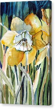 Golden Daffodil Canvas Print by Mindy Newman