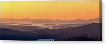 Golden Dawn Over Squam And Winnipesaukee Canvas Print