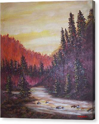 Bob Ross Canvas Print - Golden Dawn by Winston Blakely