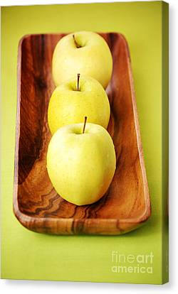 Golden Delicious Apples Canvas Print by HD Connelly