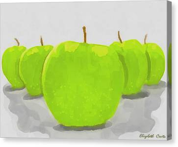 Canvas Print featuring the painting Golden Delicious by Elizabeth Coats