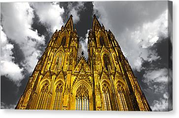 Golden Dome Of Cologne Canvas Print by Thomas Splietker