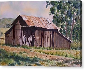 Golden Eagle Ranch Barn Canvas Print