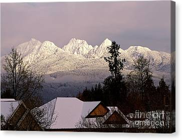 Canvas Print featuring the photograph Golden Ears Mountain View by Sharon Talson