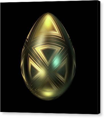 Maltese Canvas Print - Golden Egg With Maltese Cross by Hakon Soreide