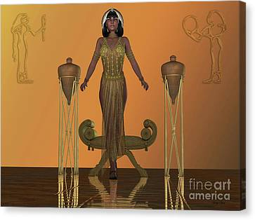 Golden Egyptian Princess Canvas Print