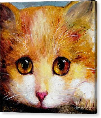 Golden Eye Canvas Print by Shijun Munns