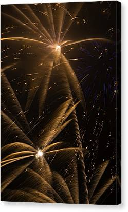 Golden Fireworks Canvas Print by Garry Gay
