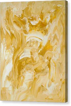 Canvas Print featuring the painting Golden Flow by Irene Hurdle