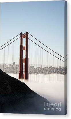 Canvas Print featuring the photograph Golden Gate And Marin Highlands by David Bearden