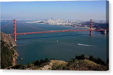 Built Canvas Print - Golden Gate Bidge And Bay by Luiz Felipe Castro