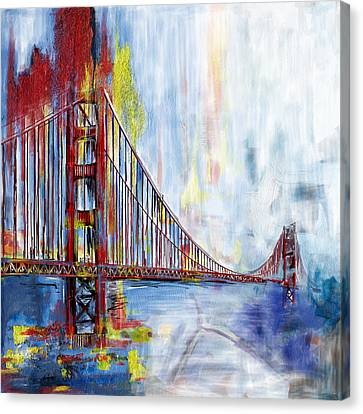 Golden Gate Bridge 218 1  Canvas Print by Mawra Tahreem
