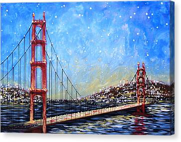 Golden Gate Bridge Canvas Print by Amy Giacomelli