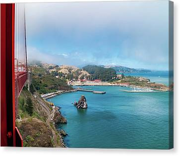 Canvas Print - Golden Gate Bridge And Ft Baker by Bill Gallagher