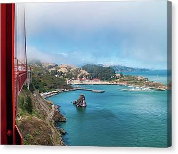 Golden Gate Bridge And Ft Baker Canvas Print