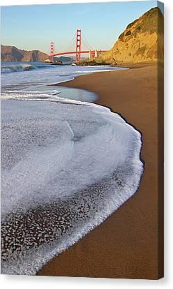 Golden Gate Bridge At Sunset Canvas Print by Sean Stieper