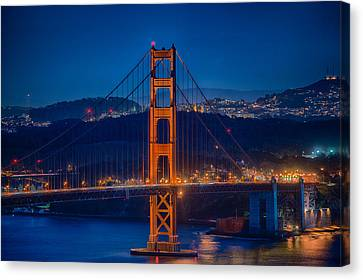 Golden Gate Bridge Blue Hour Canvas Print