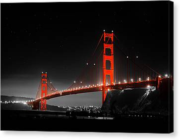 Sausalito Canvas Print - Golden Gate Bridge by Bryant Coffey