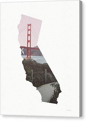 Canvas Print featuring the mixed media Golden Gate Bridge California- Art By Linda Woods by Linda Woods