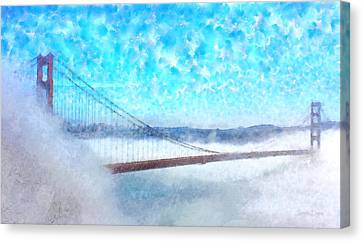 Space Canvas Print - Golden Gate Bridge - Da by Leonardo Digenio