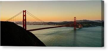 Golden Gate Bridge From The Headlands Canvas Print by Steve Gadomski