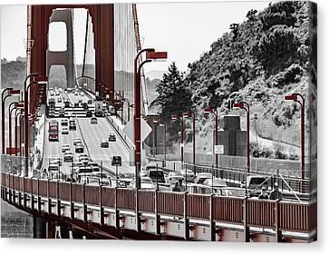 Golden Gate Bridge Street View Canvas Print