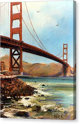Golden Gate Bridge Looking North Canvas Print by Donald Maier