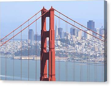Golden Gate Bridge Canvas Print by Lou Ford
