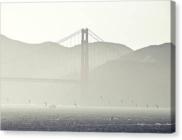Canvas Print featuring the photograph Golden Gate Bridge by Paul Plaine