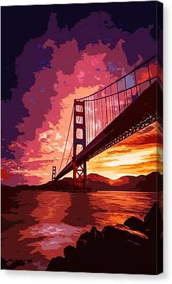 Golden Gate Bridge - San Francisco Canvas Print by Andrea Mazzocchetti