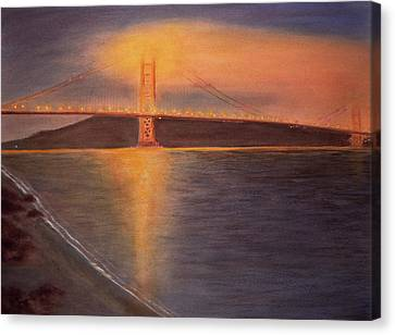 Alcatraz Canvas Print - Golden Gate Bridge San Francisco by Ken Figurski