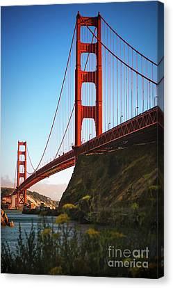 Golden Gate Bridge Sausalito Canvas Print by Doug Sturgess